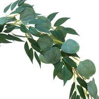 4pcs Artificial Eucalyptus Vine Plant Fake Leaves Bush Garland Wedding Hanging Party Greenery Garden
