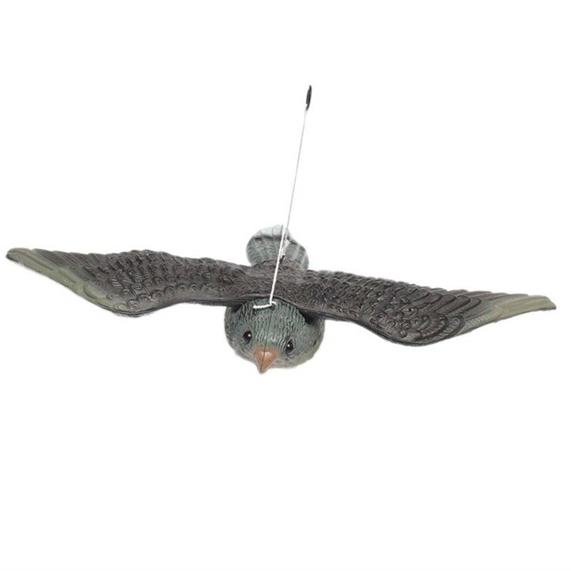 Flying Hawk Decoy Bird Owl Deterrent Pest Control Garden Scarecrow Ornament Q1JE