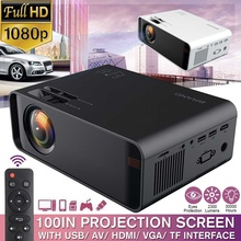 Projector 2300 Lumen LED Sync Display Beamer 1080P TV 100IN HDMI VGA 3D
