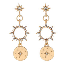 version of East Gate New Earrings five star sun Earrings long round pendants temperament versatile Earrings east kawasaki toky encoder new version hy38a6 p 500 replace of hy38a6 p4ar 500