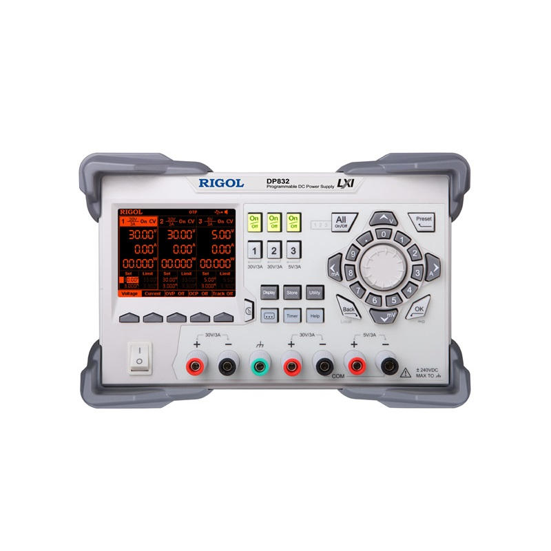 RIGOL DP832 Programmable Linear DC Power Supply 3 Channels Built in V / A / W Measurements and Waveform Display