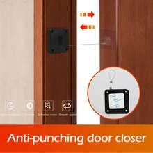 2 uds automático de puerta más cerca de golpe-Sensor automático de puerta más adecuado para todas las puertas 800g tensión cierre puerta más cerca