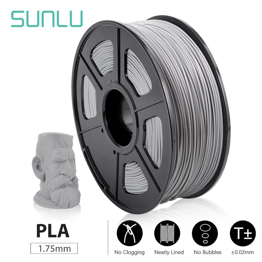 SUNLU PLA PLA 3D Printer Filament new Pollution-free material 1 75mm 1kg 2 2lbs with full color and top quality DIY 3d printing