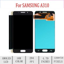 Amoled For SAMSUNG A310 LCD Display Touch Screen Digitizer Assembly For Samsung Galaxy A3 2016 Display Replacement A310F A310M