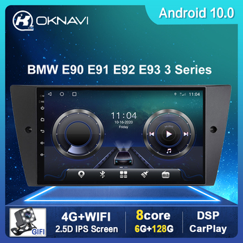 Car Radio For BMW 3-Series E90 E91 E92 E93 2005-2013 GPS Naviagtion Car Multimedia Android 10.0 2 Din Carplay DSP WIFI 4G BT SWC image