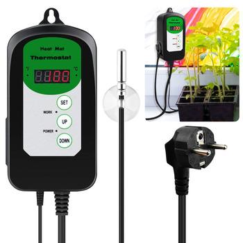230V 50HZ cyfrowy mata grzewcza termostat kontroler 68-108F 20-42D do kiełkowania nasion cieplarnianych 230V 4 3MA ue wtyczka kontroler tanie i dobre opinie NONE CN (pochodzenie) 427360 EU plug