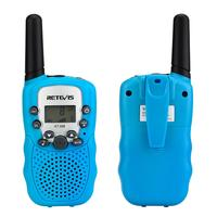 מכשיר הקשר 2pcs Kids מכשיר הקשר מיני ילדים רדיו Retevis RT388 יום הולדת מתנה PMR446 FRS פנס נייד רדיו שני הדרך צעצועים לילדים (2)