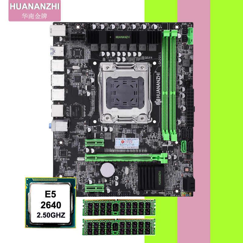 Bán Chạy Nhất Thương Hiệu Huanan Tử X79 Micro-ATX Bo Mạch Chủ Với CPU RAM Lưng CPU Xeon E5 2640 2.5GHz ram 16G (2*8G) DDR3 REG ECC