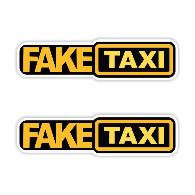 Fausse voiture de TAXI autocollant autocollant emblème Badge auto-adhésif universel pour BMW Ford Toyota Kia Opel Turbo JDM fenêtre voiture style