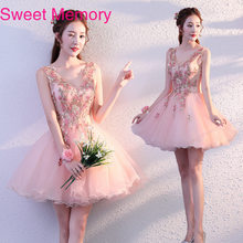 Gs0145 Vestidos Short Pink Homecoming Dresses Stage Art Test Women Performance Graduation Dress Robe De Soiree Sweet Memory(China)
