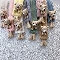 Детский шарф на осень и зиму, имитирующий кроличий мех, милый объемный теплый шарф с медведем для мальчиков и девочек