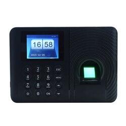 Biometryczny czytnik linii papilarnych pracownik rejestrator biuro inteligentne hasło maszyna obsługująca DC 5V czas obecności zegar|Rejestratory czasu pracy|   -