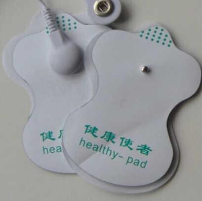 Pads Für Tens Akupunktur Digitale Therapie Maschine Massage Komfortable Werkzeuge JETTING 1Pair = 2PCS Weiß Elektrode