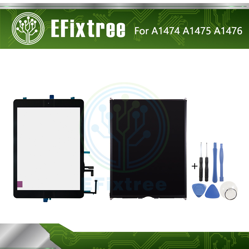 High Quality  A1474 A1475 A1476 Touch Panel LCD Display Screen For IPad Air Touch Screen Digitizer Panel Black White