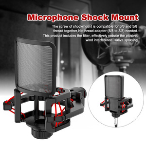 Image 1 - Professional Anti Vibration Shock Mount For Microphones With Filter Screen With blowout guard