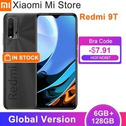 New Global Version Xiaomi Redmi 9T Smartphone 6GB RAM 128GB ROM Snapdragon 662 6000mAh Battery 48MP Rear Cam 6.53''FHD Cellphone