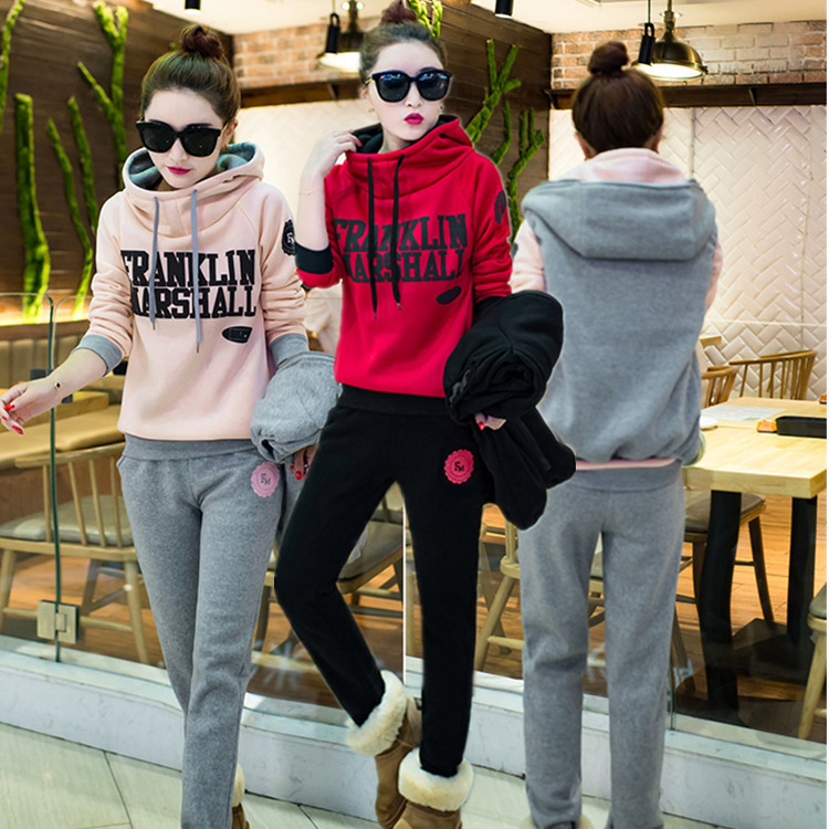 2019 Spring And Autumn New Style Fashion Hoodie Sports Set Student Loose Casual Trousers Three-piece Set Fashion