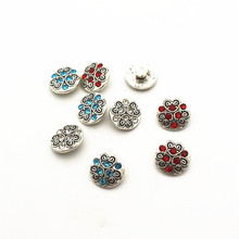 20pcs/lot flower metal crystal alloy button 12mm Snap Buttons Fit DIY Snap Bracelet Snap Button Charms jewelry hot selling 20pcs lot flower metal crystal alloy button 12mm snap buttons fit diy snap bracelet snap button charms jewelry