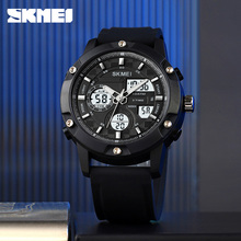 SKMEI męski zegarek wojskowy 100m zegarek wodoodporny LED zegarek kwarcowy Sport zegarek męski relogios masculino Sport Watch Men 1757