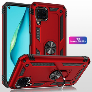 Shockproof Case for Huawei P40 Lite Case Bumper on Huawei P40 Lite Military Armor Magnetic Car Holder Phone Cover
