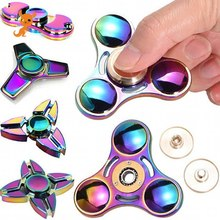 Milti-color Hand Spinner fidget Zinc Alloy Metal fidget spinner metal bearing edc finger Spinner Hand relieves stress toy fegve hand spinner metal tri bar hand fidget spinner finger toy edc stress relief handspinner fidget toy 2017 new sl109