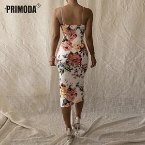 Image 5 - ניאון אופנה סקסי ליידי מועדון Midi שמלת קיץ נשים אלגנטי מסיבת ניאון ללא משענת ספגטי רצועת Bodycon שמלת PR272G