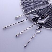 Западный портативный набор столовых приборов для путешествий 304 из нержавеющей стали набор посуды с роскошной ручкой нож вилка столовая посуда