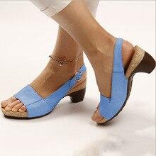 Женские босоножки; шлепанцы; летние туфли-лодочки на танкетке; Модные Туфли-гладиаторы на высоком каблуке с пряжкой; туфли-лодочки с открытым носком; Zapatos De Mujer