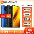 Глобальная версия смартфона POCO X3 NFC 6 Гб 64 Гб/6 ГБ 128 ГБ Восьмиядерный Snapdragon 732G 64-мегапиксельная четырехъядерная камера 6,67