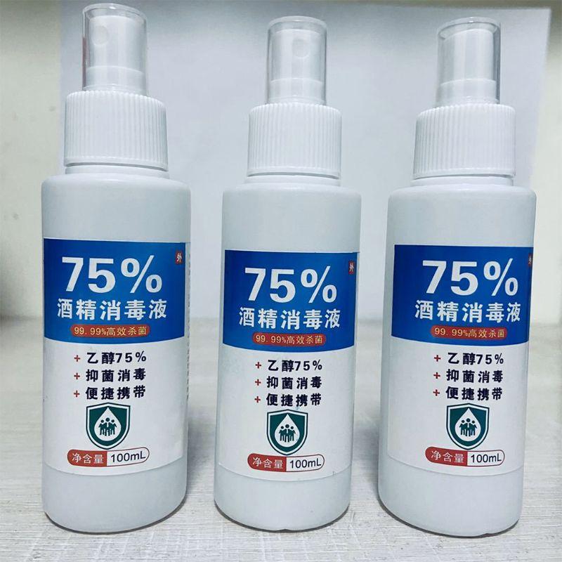 100ml 75% Alcohol Disinfection Spray Portable Rinse Free Hand Sanitizer Liquid