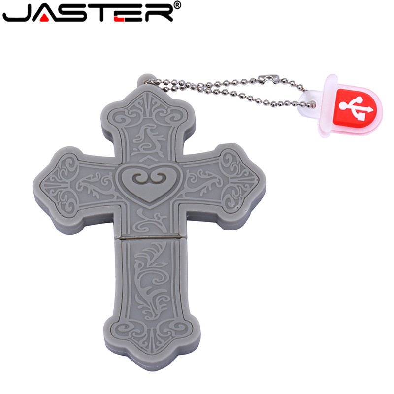 JASTER 2019 New Usb2.0 Pen Drive 4GB 8GB 16GB 32GB 64GB Cartoon Cross Flash Drive Wedding Anniversary Gift