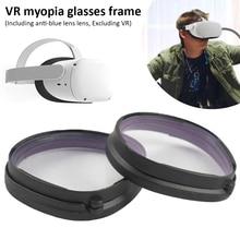 Dla Oculus Quest 2 VR okulary magnetyczne soczewka niebieska ramka szybki demontaż przypinany obiektyw ochrona dla Oculus Quest 2 okulary