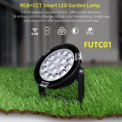 FUTC01 9W RGB + wtc oświetlenie ogrodowe LED DC24V/AC86 ~ 265V IP65 wodoodporny zewnętrzny LED oświetlenie kompatybilny z WiFi 2.4G bezprzewodowy pilot zdalnego