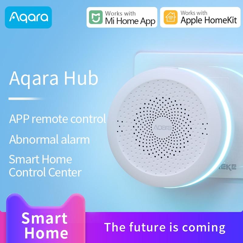 Aqara Gateway 3 Hub smart home Zigbee voice control door Temperature humidity Sensor works with Xiaomi Mi home Apple Homekit App
