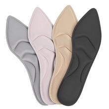 1Pair Soft Memory Sponge High Heel Insoles Women Antibacterial Sweat Absorbant Shoe Cushion Breathable Massage Inserts