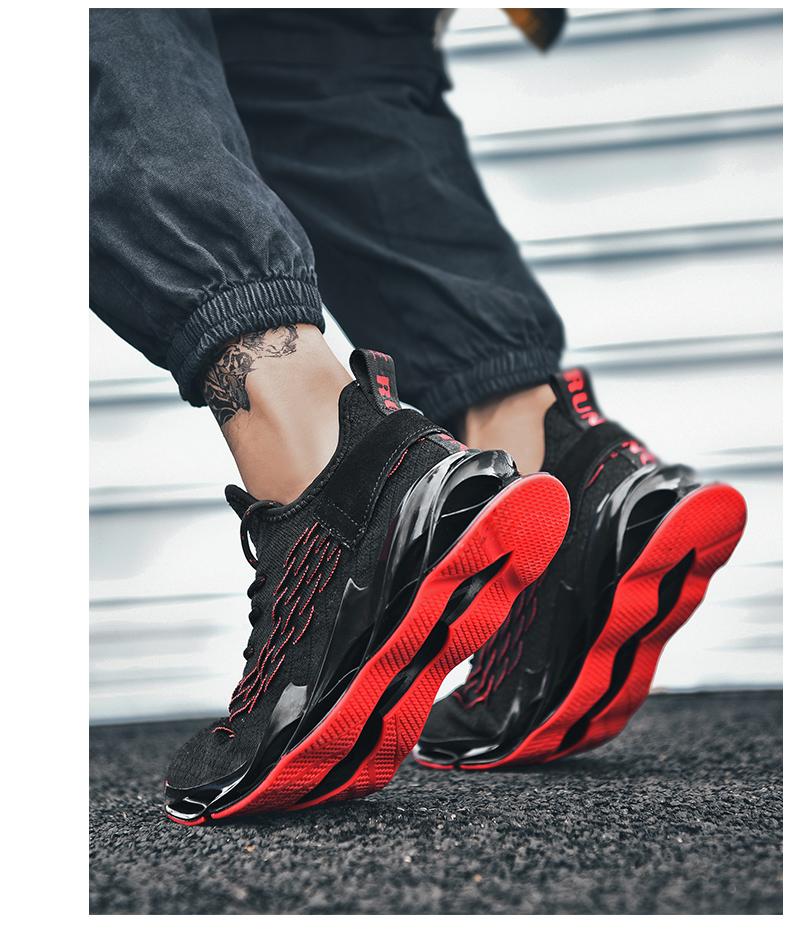 H2b754d9db65c4e62b6bd644e13253adb0 - New Outdoor Men Free Running for Men Jogging Walking Sports Shoes High-quality Lace-up Athietic Breathable Blade Sneakers