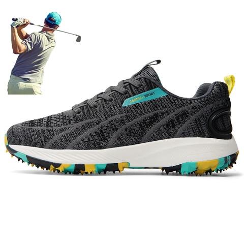 para Homens Jovens Sapatos de Golfe ao ar Sapatos de Golfe de Alta Tênis de Golfe Calçados de Caminhada Livre Anti Deslizamento Qualidade Respirável Esporte Leve
