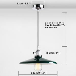 Image 5 - Permo luces colgantes de Metal Vintage de 11,8 pulgadas, lámparas de techo colgantes para pisos estilo Retro, accesorios de lámpara moderna, luminaria de luces de Navidad