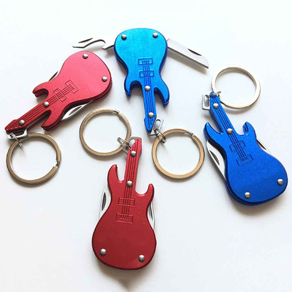 Portable Guitar Multi-function Opener Bottle Key Chain Key Ring Home Bar Kitchen Beer Bottle Opener Tools Music bar special