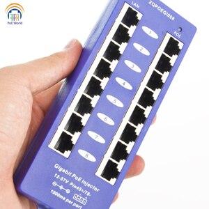 Image 5 - 802.3af Mid span PoE injector Mode B(4/5+,7/8 ) Passive Gigabit 8 Port PoE Injector For Mikrotik UBNT CCTV Network