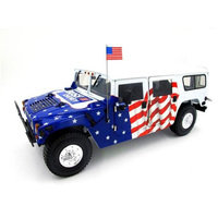 1:18 scale Ikosoto EXOTO Hummer H1 Presidential Campaign Car Die Casting Alloy Car Model Metal Vehicle Toy Vehicle Gift collect