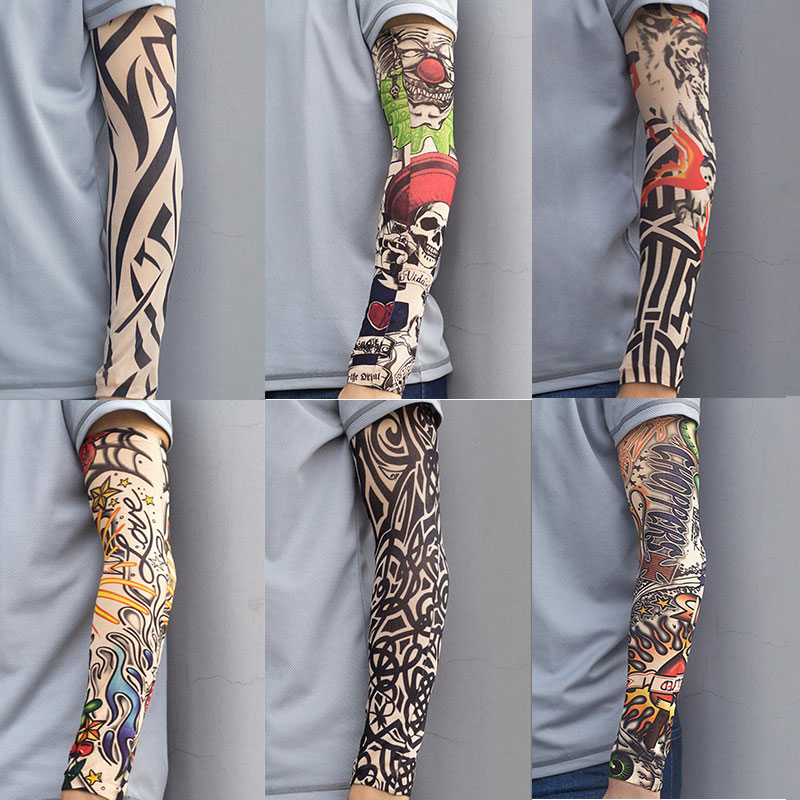 1 Pcs Cycling Arm Sleeve UV Protection Stretchy Sunscreen Arm Sleeves Arm Warmers Basketball Hiking Running Arm Sleeves