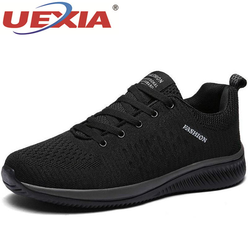 UEXIA Unisex Mesh Men Casual Shoes Comfortable Lightweight Breathable Walking Sneakers Footwear Tenis Feminino Zapatos Big Size
