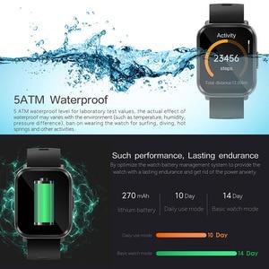 Image 5 - コネクテッドスポーツウォッチ,男性用心拍数と血圧モニター,防水,AndroidおよびiOS用