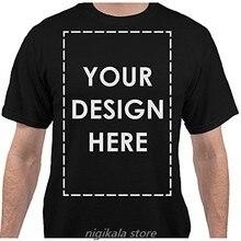 Adicionar seu próprio nome de texto personalizado mensagem t camisa masculina casual vestido de alta qualidade MensT-shirt5xL