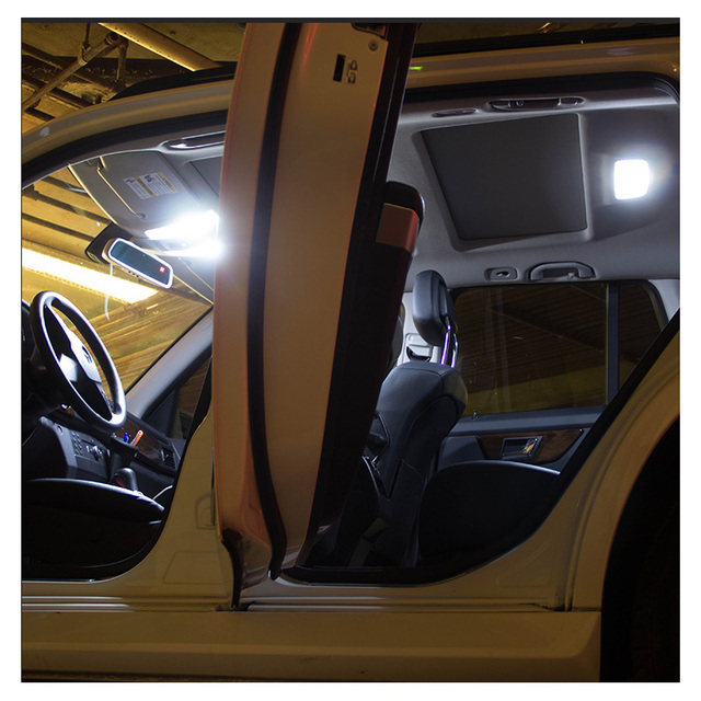 12pcs White LED Interior Light Canbus License Plate Bulbs Kit Fit For 2004-2006 2007 2008 Chrysler Pacifica Map Dome Cargo Lamp 4