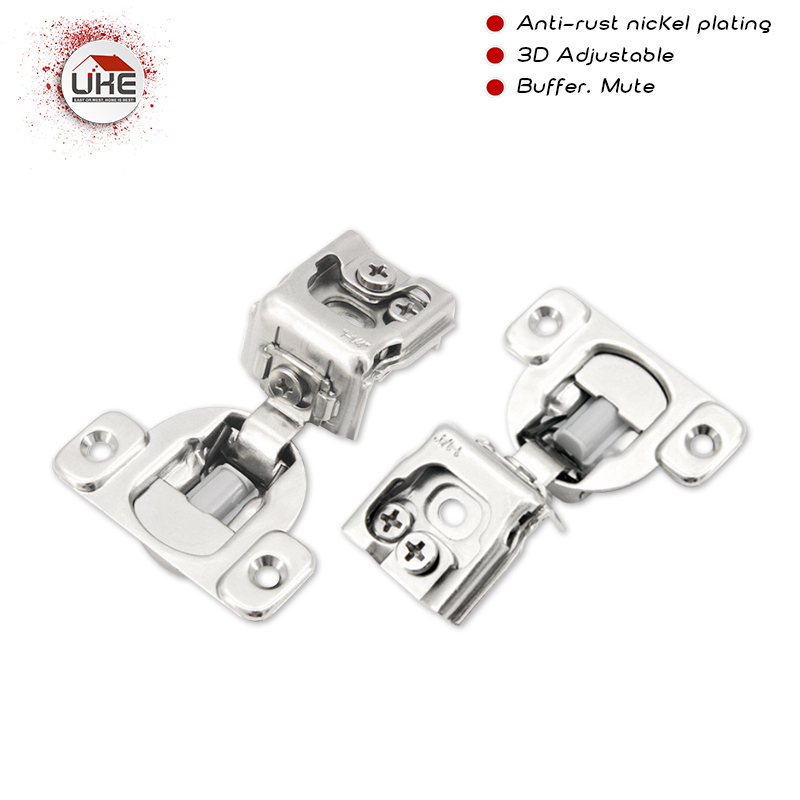 UKE 1/2 American Hydraulic Buffering Hinge Cabinet Hinges  Damper Buffer Soft Close Clip On Furniture Hinge For Wood Door