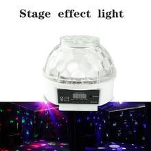 F & GMini RGBW 15W KTV גביש קסם כדור Led שלב מנורת DJ דיסקו לייזר אור מסיבת אורות קול מועדון חג המולד אורות