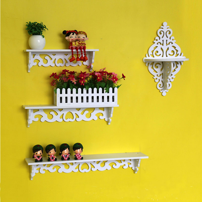 Home Nordic Style Storage Rack INS Wall Shelves Wall Decor Wooden Beads Tassel Storage Swing Shelf Kid's Room Organizer For Toys
