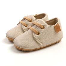 Baby Casual Shoes Lace-Up Leather Fabric 2021 Spring Autumn New Non-Slip Breathable Wear-Resistant Warm Childrens Toddler Shoes